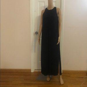 COS navy maxi dress